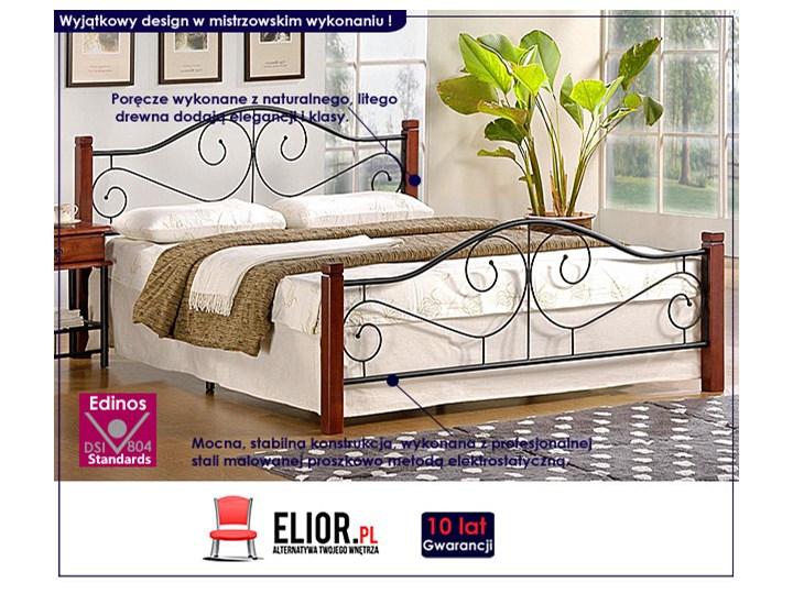 Jednoosobowe łóżko Sirela 120x200 Łóżko metalowe Kolor Czarny