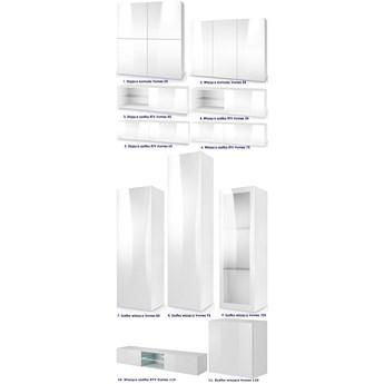 Nowoczesna komoda Vomes 2X - biały połysk
