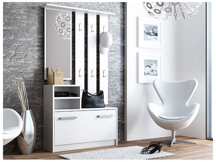 Garderoba z szafką na buty do przedpokoju Salma - biała Kolor Biały Kategoria Zestawy mebli do sypialni