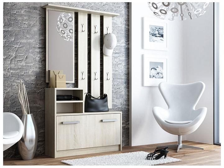 Garderoba z szafką na buty Salma - dąb sonoma Kategoria Zestawy mebli do sypialni Kolor Beżowy