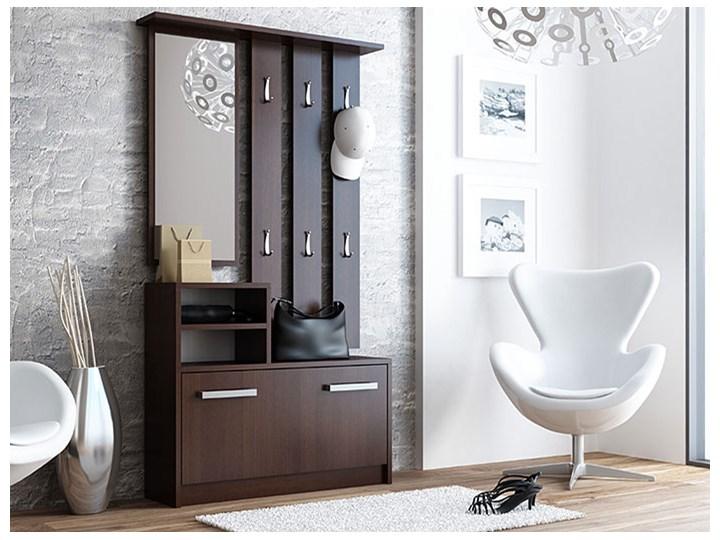 Garderoba z wieszakiem do przedpokoju Salma - wenge Kategoria Zestawy mebli do sypialni