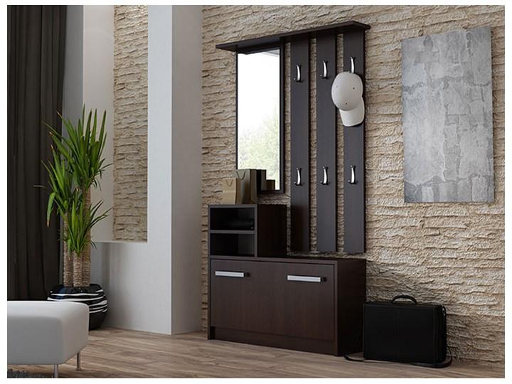 Garderoba z wieszakiem do przedpokoju Salma - wenge Kategoria Zestawy mebli do sypialni Kolor Brązowy
