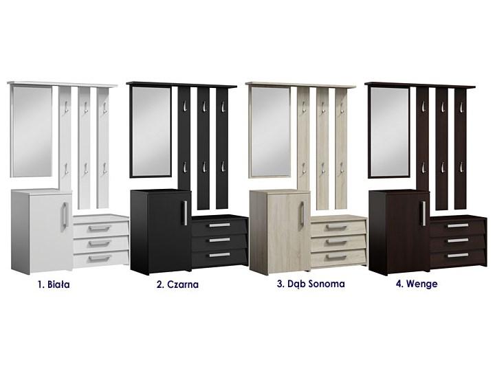 Garderoba z lustrem do przedpokoju Senea - biała Kolor Biały