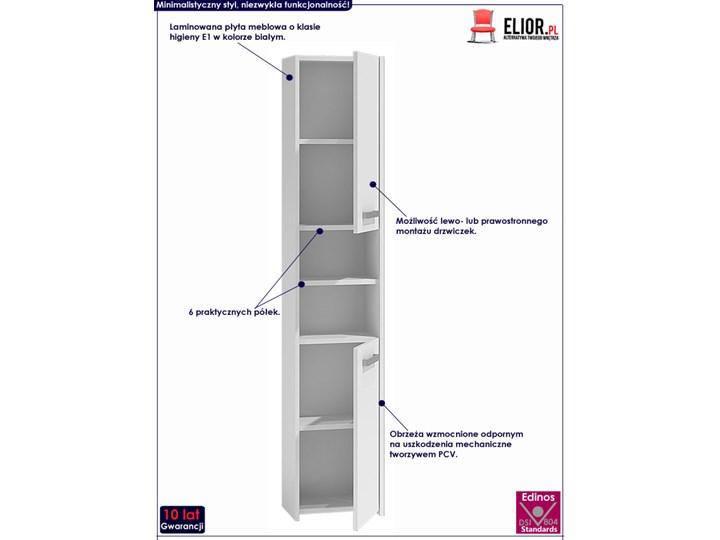 Szafka regał do łazienki Tosca 3X - biała Wysokość 170 cm Słupek Szerokość 40 cm Stojące Kategoria Szafki stojące