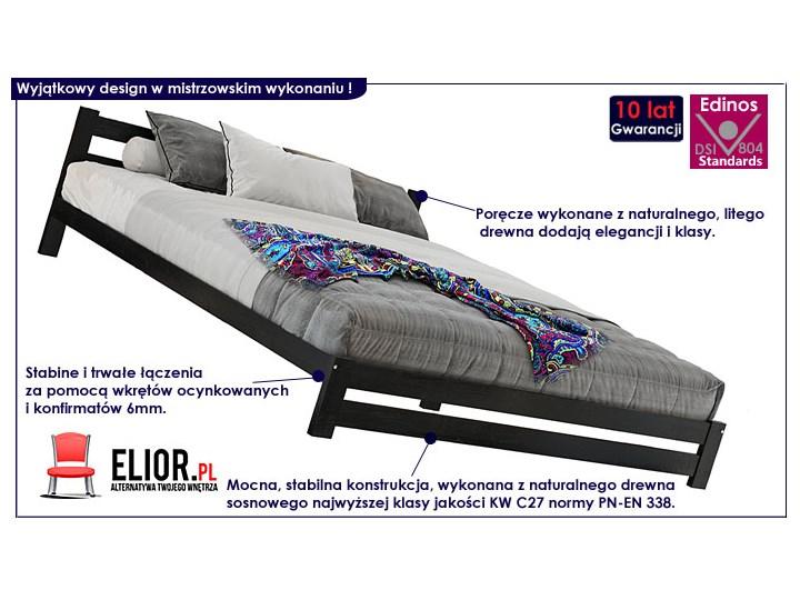 Łóżko drewniane Marsel 140x200 - czarne Kategoria Łóżka do sypialni Rozmiar materaca 140x190 cm