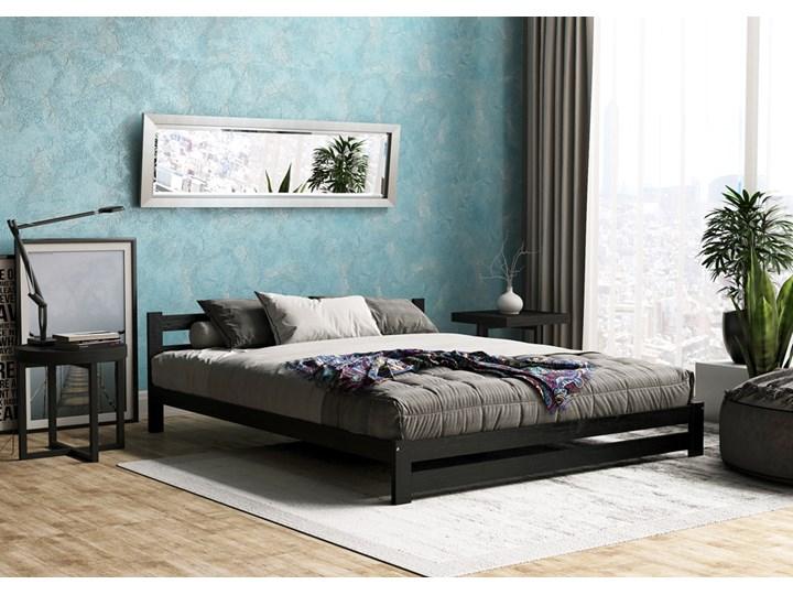 Łóżko drewniane Marsel 140x200 - czarne Kolor Czarny Rozmiar materaca 140x190 cm