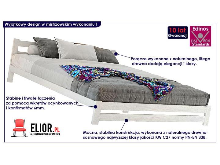Łóżko drewniane Marsel 140x200 - białe Kolor Biały Kategoria Łóżka do sypialni