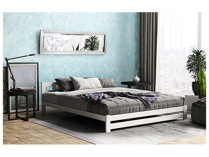 Łóżko drewniane Marsel 160x200 - białe Rozmiar materaca 160x200 cm
