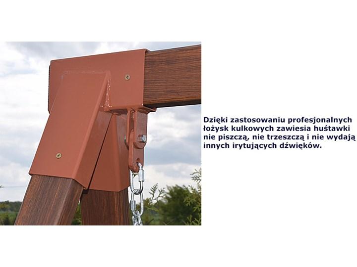 Drewniana huśtawka ogrodowa Magis 4X - 180cm Typ Huśtawka ze stelażem Kolor Brązowy