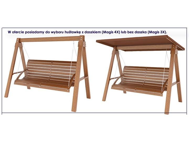 Drewniana huśtawka ogrodowa Magis 3X - 180 cm Materiał stelaża Drewno Kategoria Huśtawki ogrodowe