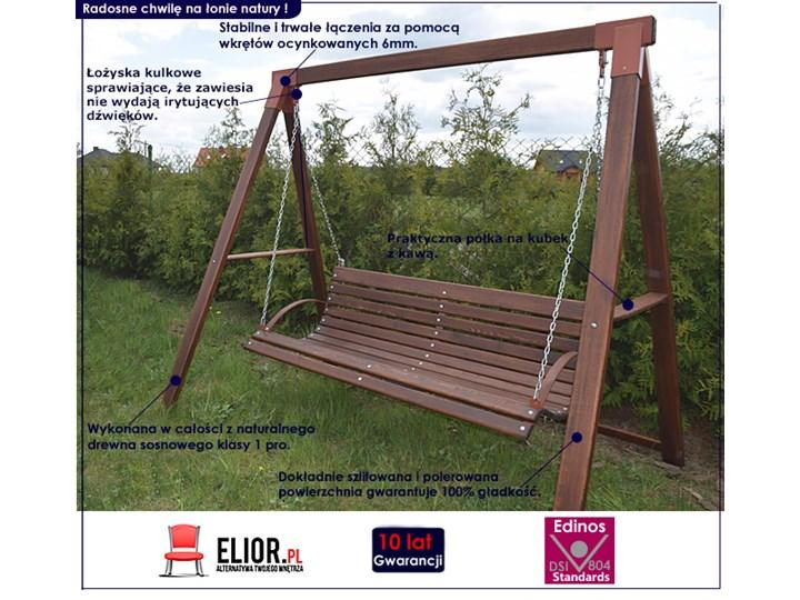 Drewniana huśtawka ogrodowa Magis 3X - 180 cm Kategoria Huśtawki ogrodowe Kolor Brązowy
