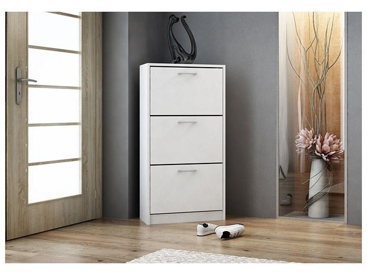 Wysoka szafka na buty Lordi - biała Drewno Kolor Biały