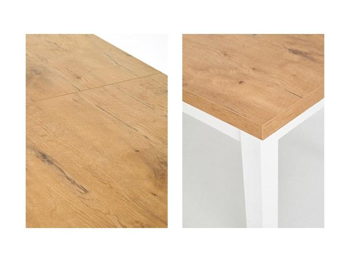 Modernistyczny stół do kuchni Selen - rozkładany Kształt blatu Prostokątny Szerokość 140 cm Długość 140 cm  Wysokość 76 cm Drewno Pomieszczenie Stoły do kuchni