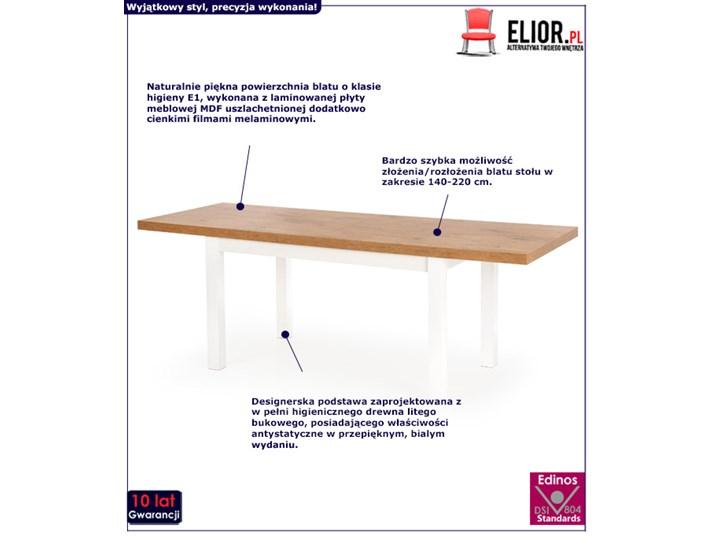 Modernistyczny stół do kuchni Selen - rozkładany Długość 140 cm  Drewno Szerokość 140 cm Wysokość 76 cm Styl Minimalistyczny