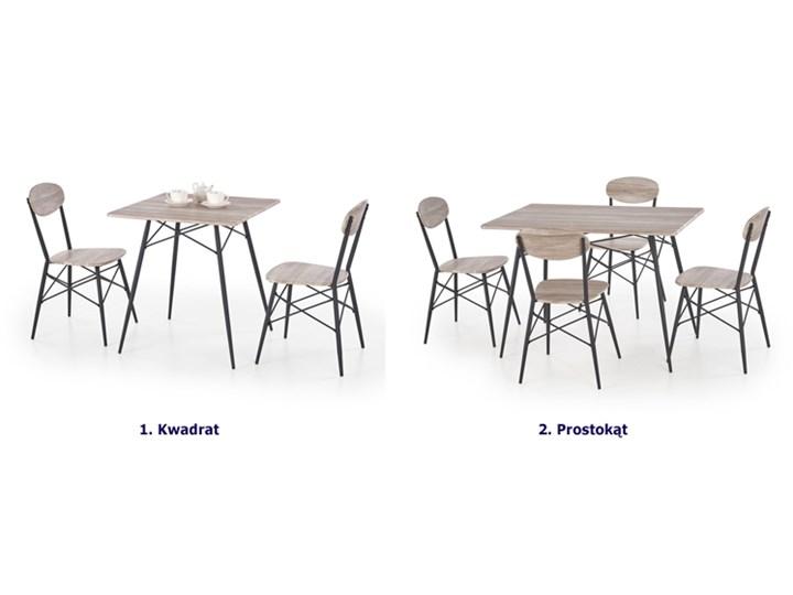 Zestaw stołowy Colien - kwadrat Kolor Szary