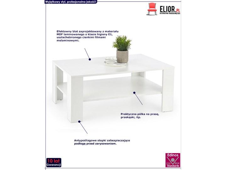 Minimalistyczna biała ława Keli Kategoria Stoliki i ławy Wysokość 53 cm Styl Nowoczesny