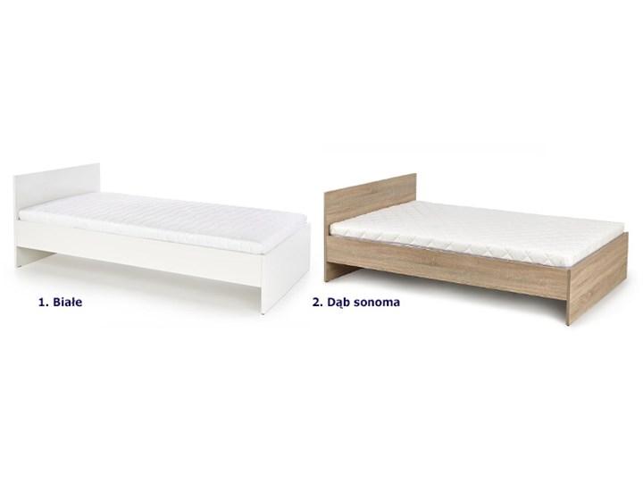 Jednoosobowe łóżko Lines 120x200 - białe Łóżko drewniane Kategoria Łóżka do sypialni