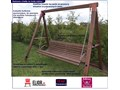 Ogrodowa huśtawka drewniana Magis 3X - 160 cm Kategoria Huśtawki ogrodowe