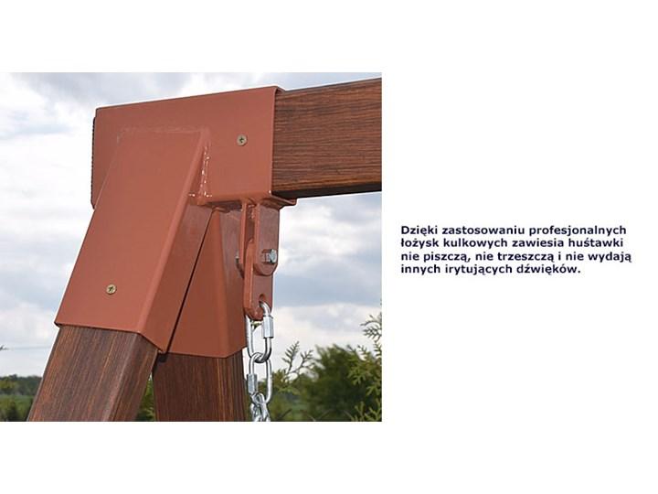 Ogrodowa huśtawka drewniana Magis 3X - 160 cm Materiał stelaża Drewno Typ Huśtawka ze stelażem