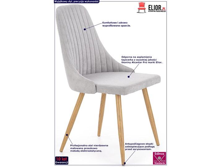 Krzesło tapicerowane Isent - jasny popiel Pomieszczenie Jadalnia Tkanina Styl Nowoczesny