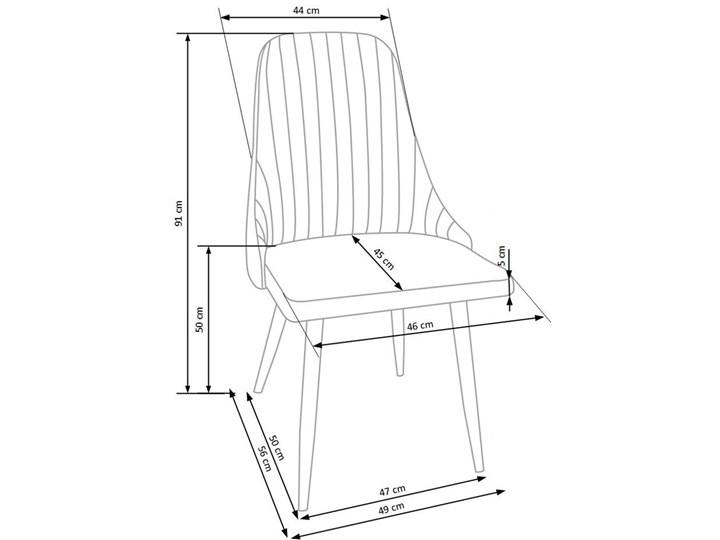 Krzesło tapicerowane Isent - jasny popiel Tkanina Styl Nowoczesny