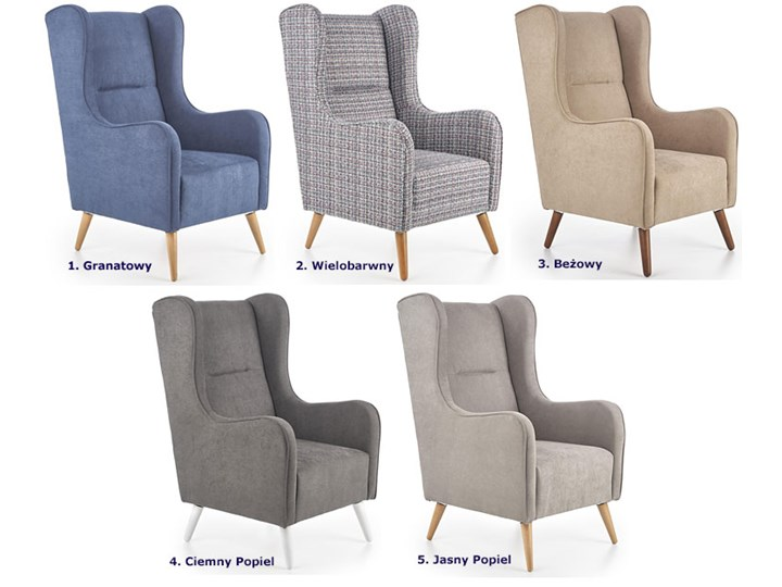 Fotel uszak wypoczynkowy Narin - beżowy Fotel tradycyjny Wysokość 114 cm Pomieszczenie Salon Kategoria Fotele do salonu