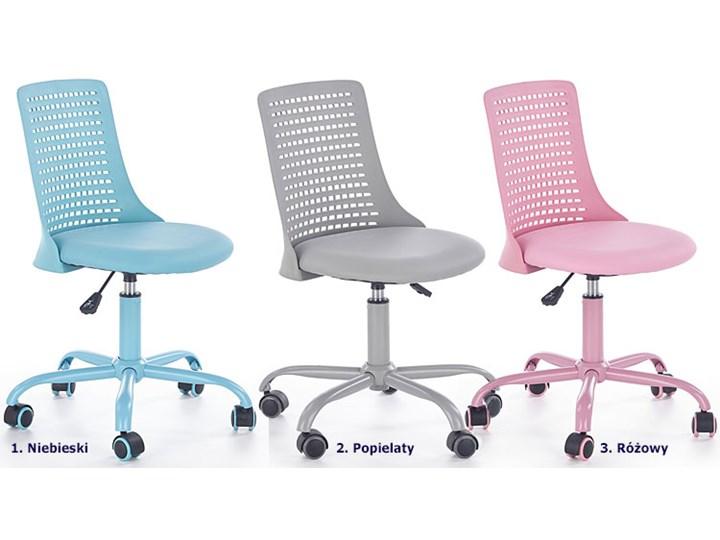 Obrotowy fotel dla dziewczynki Moli - różowy Tkanina Szerokość 43 cm Wysokość 89 cm Wysokość 78 cm Styl Nowoczesny