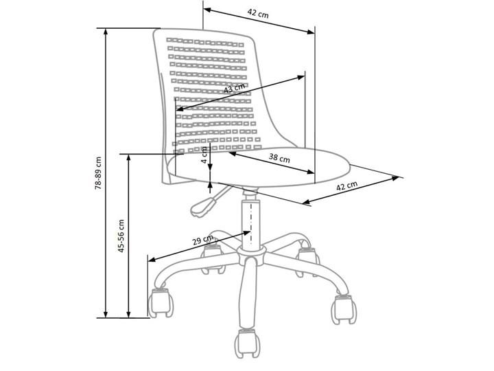 Obrotowy fotel dla dziewczynki Moli - różowy Wysokość 78 cm Tkanina Szerokość 43 cm Wysokość 89 cm Styl Nowoczesny