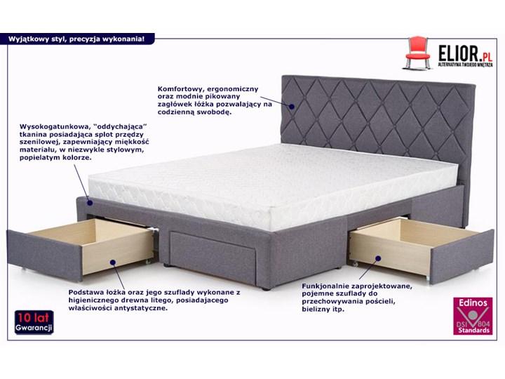 Łóżko Rosea 160x200 - szare Łóżko tapicerowane Kategoria Łóżka do sypialni