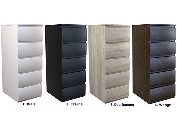 Wysoka komoda Luvia - czarna Głębokość 45 cm Z szufladami Wysokość 111 cm Pomieszczenie Garderoba