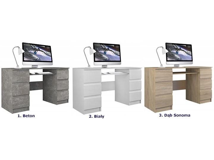 Białe biurko komputerowe - Liner 2X Płyta meblowa Głębokość 130 cm Głębokość 50 cm Kolor Biały