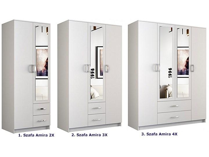 Szafa z lustrem Amira 2X - biała Rodzaj drzwi Uchylne Płyta MDF Lustro