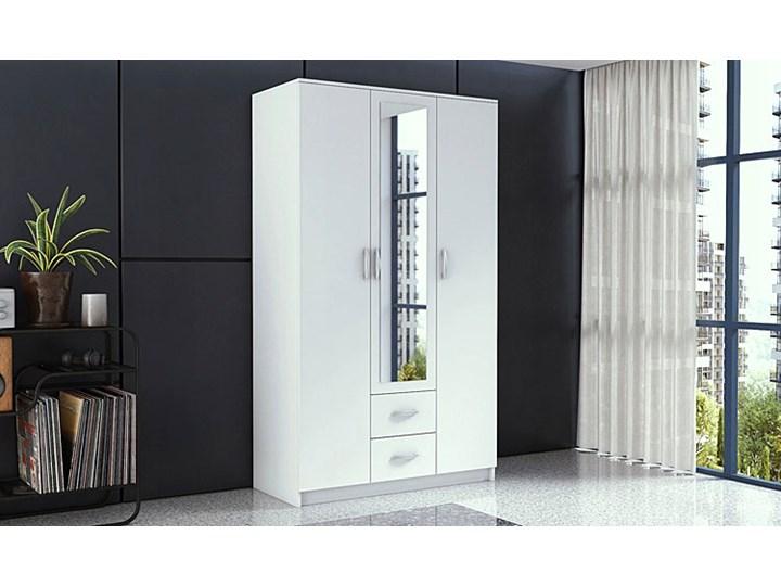 Szafa z lustrem Amira 3X - biała Rodzaj drzwi Uchylne Pomieszczenie Garderoba