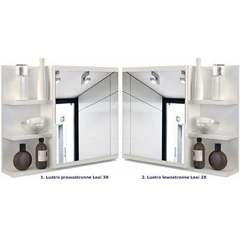 Lustro do łazienki Lexi 3X - białe