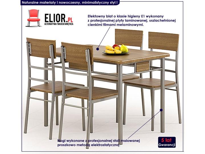 Stół z krzesłami Dastin Kolor Brązowy Liczba krzeseł 4 krzesła