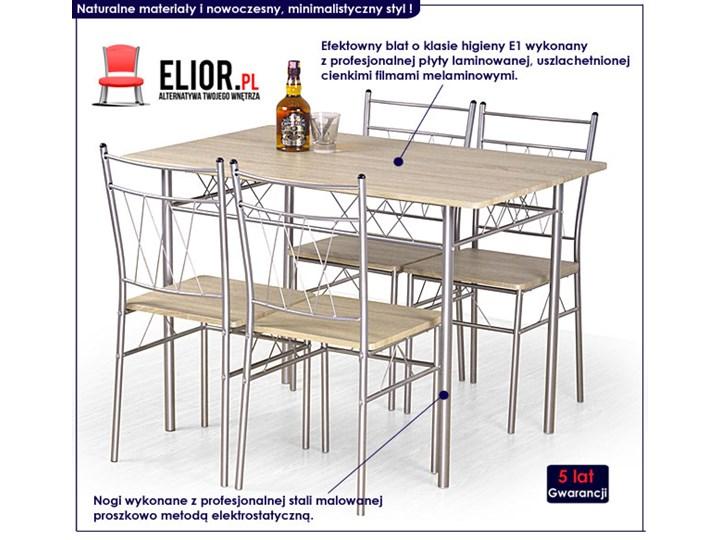 Stół z krzesłami Danter Kolor Beżowy
