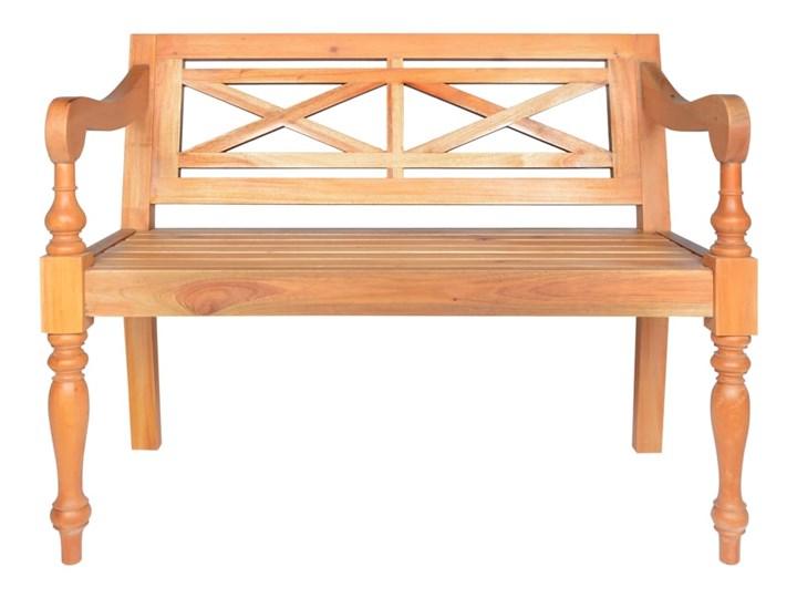 Ławka do ogrodu Mila - brązowa Styl Nowoczesny Drewno Z oparciem Długość 98 cm Kolor Brązowy