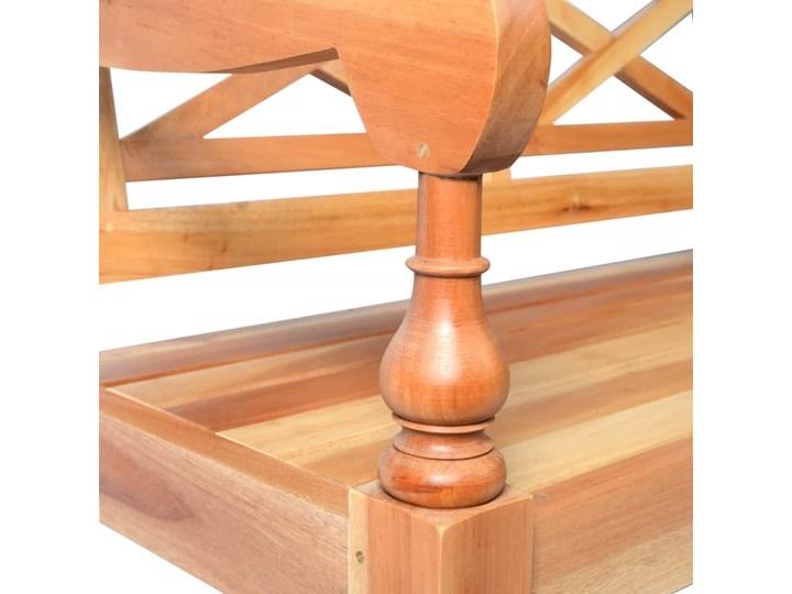 Ławka do ogrodu Mila - brązowa Z oparciem Długość 98 cm Drewno Styl Nowoczesny