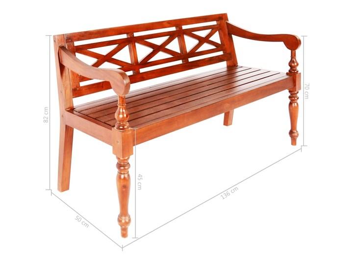Ogrodowa ławka Dima - ciemnobrązowa Długość 136 cm Drewno Kategoria Ławki ogrodowe Z oparciem Kolor Brązowy