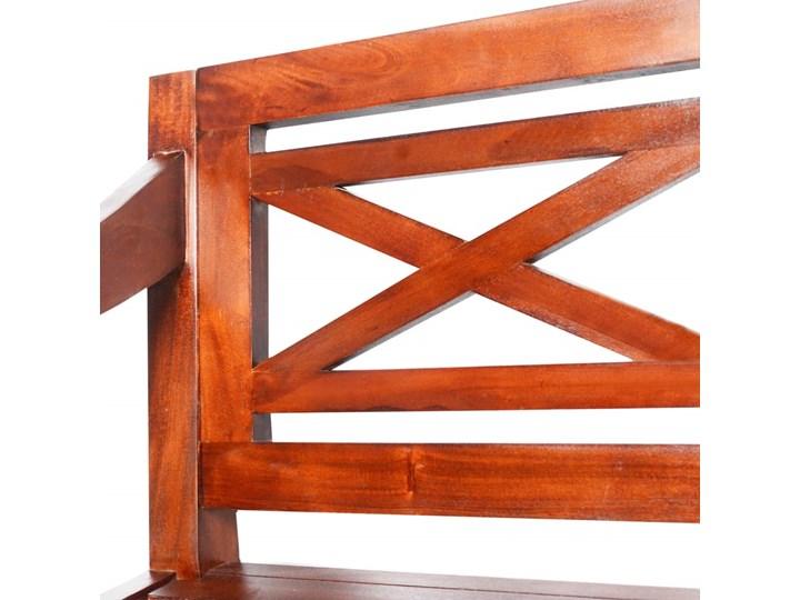 Ogrodowa ławka Dima - ciemnobrązowa Z oparciem Długość 136 cm Drewno Kategoria Ławki ogrodowe