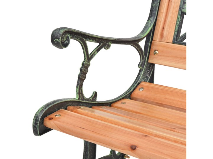 Drewniana ławka ogrodowa Rosa Długość 122 cm Drewno Z oparciem Kolor Czarny
