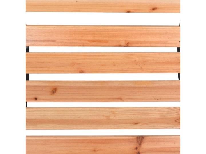 Drewniana ławka ogrodowa Rosa Z oparciem Drewno Kolor Czarny Długość 122 cm Kolor Brązowy