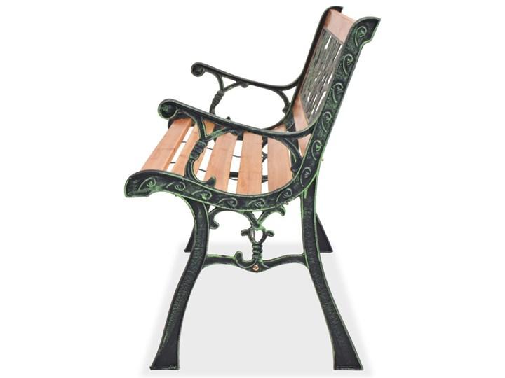 Drewniana ławka ogrodowa Rosa Drewno Z oparciem Długość 122 cm Kolor Czarny