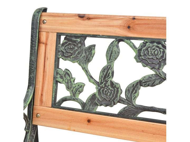 Drewniana ławka ogrodowa Rosa Długość 122 cm Z oparciem Drewno Kolor Brązowy