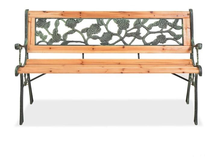 Drewniana ławka ogrodowa Rosa Z oparciem Długość 122 cm Kolor Czarny Drewno Kategoria Ławki ogrodowe
