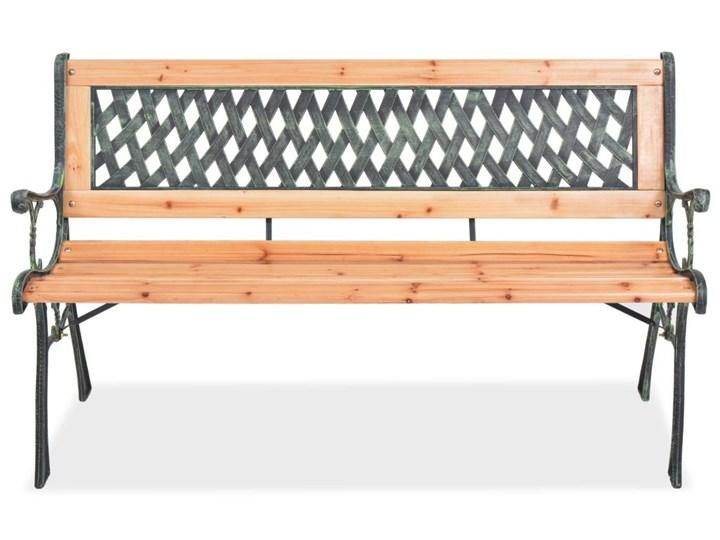 Drewniana ławka ogrodowa Rosa 2X Długość 122 cm Drewno Z oparciem Kategoria Ławki ogrodowe