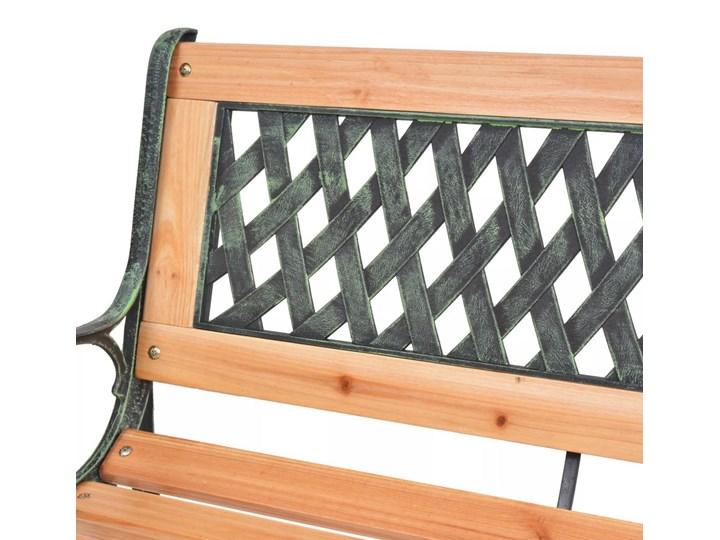 Drewniana ławka ogrodowa Rosa 2X Z oparciem Długość 122 cm Kolor Brązowy Drewno Styl Klasyczny