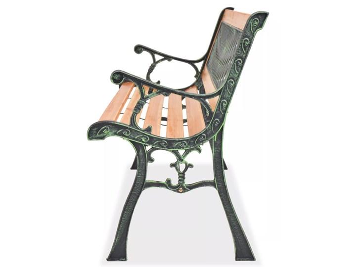 Drewniana ławka ogrodowa Rosa 2X Długość 122 cm Kategoria Ławki ogrodowe Z oparciem Drewno Kolor Brązowy