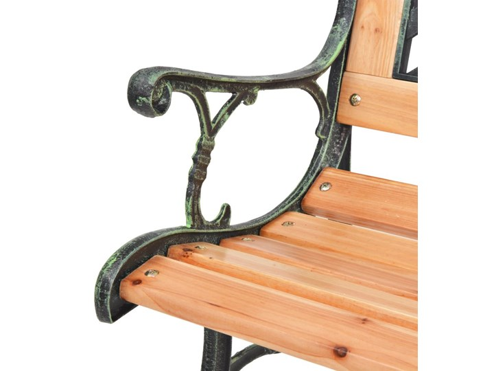 Drewniana ławka ogrodowa Rosa 2X Z oparciem Styl Klasyczny Długość 122 cm Drewno Kolor Brązowy
