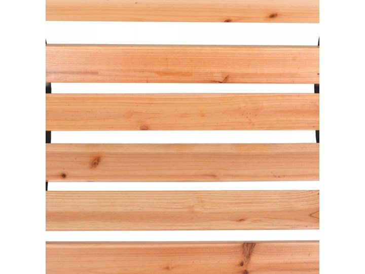 Drewniana ławka ogrodowa Rosa 2X Długość 122 cm Styl Klasyczny Z oparciem Drewno Kolor Brązowy